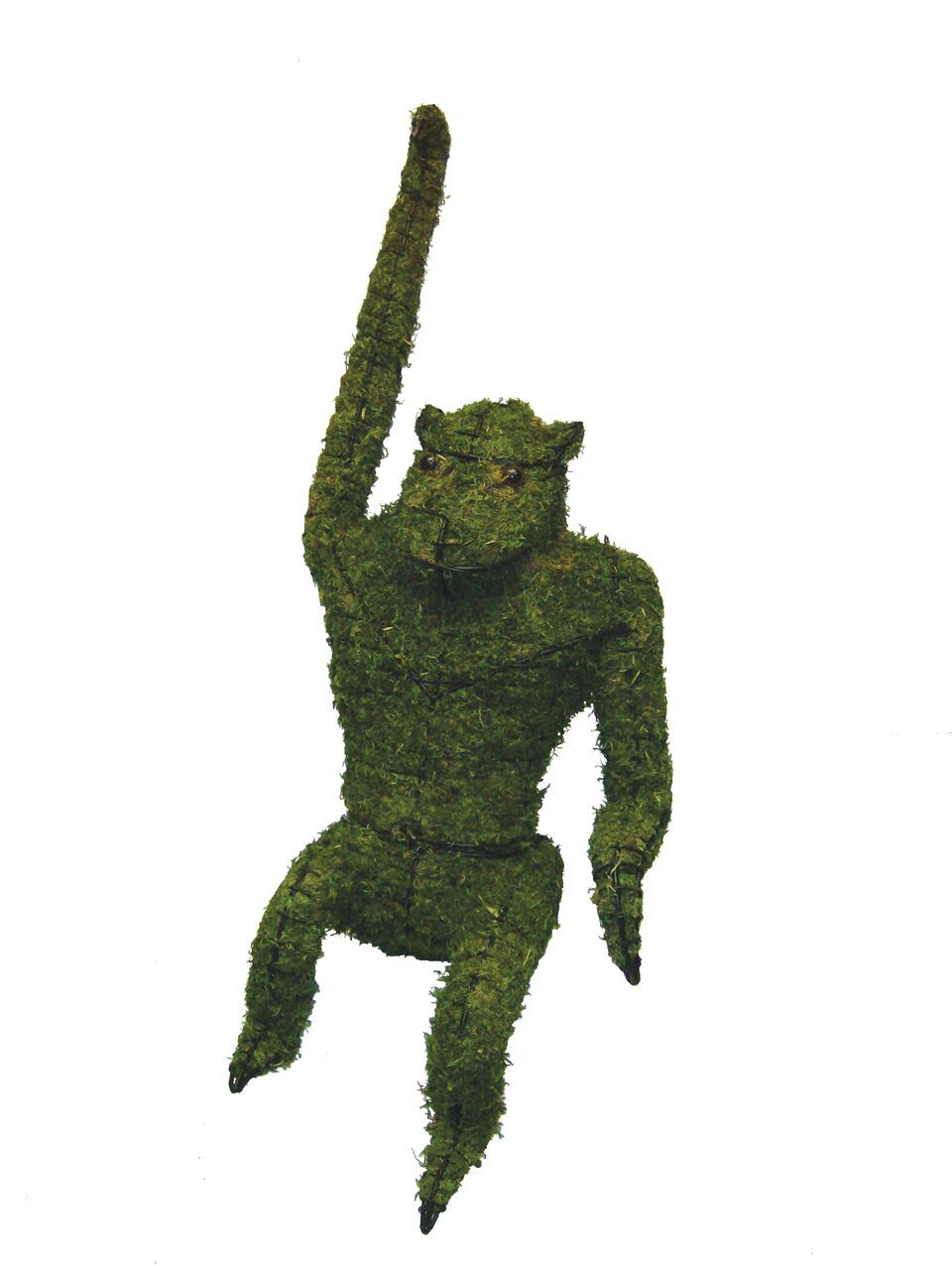 "Hanging Monkey 14"" and 39"" Topiary Sculpture - Moss Filled"