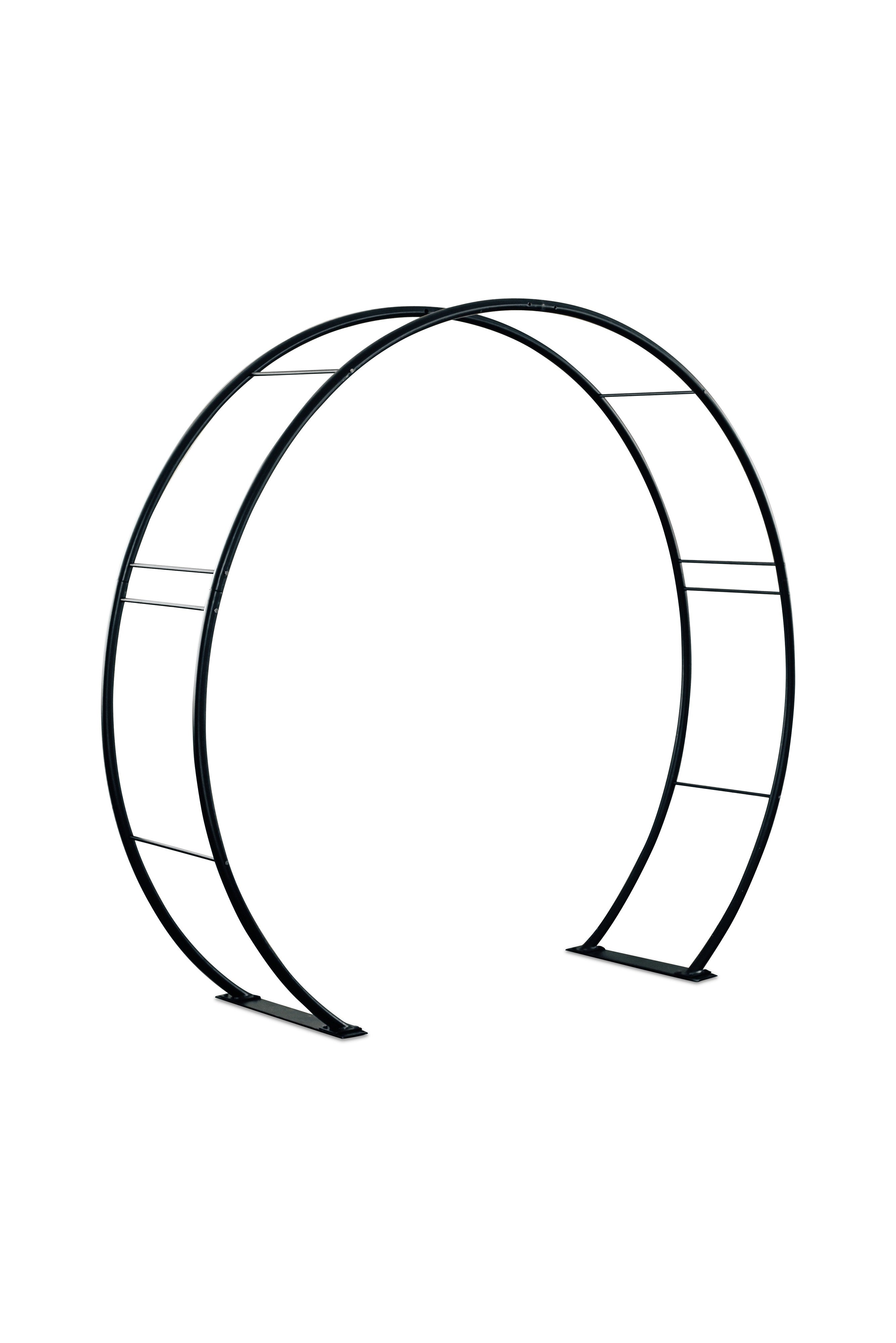 Moon Gate Steel Circle Garden Arch or Wedding Arbor - Henderon Garden Supply