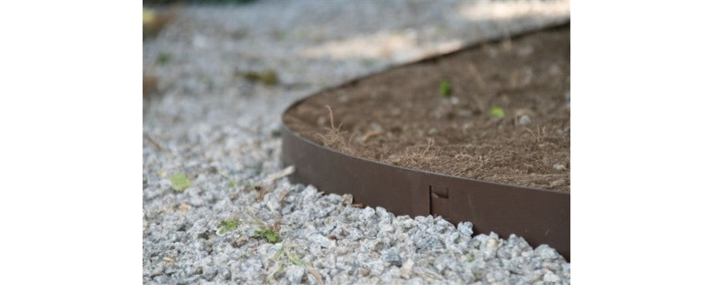 EverEdge Classic Steel Flexible Lawn Edging Garden Border in Brown - Henderson Garden Supply