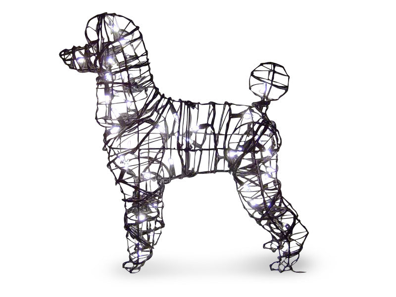 Poodle steel pre-lit topiary frame - Henderson Garden Supply