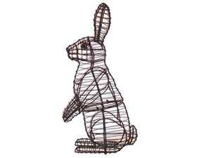Sitting Upright Rabbit steel topiary frame - Henderson Garden Supply