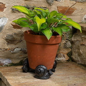 Snail Bronze Flower Pot Feet - Henderson Garden Supply