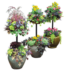 Pamela Crawford's Basket Column for Large Pots Vertical Gardening - Henderson Garden Supply
