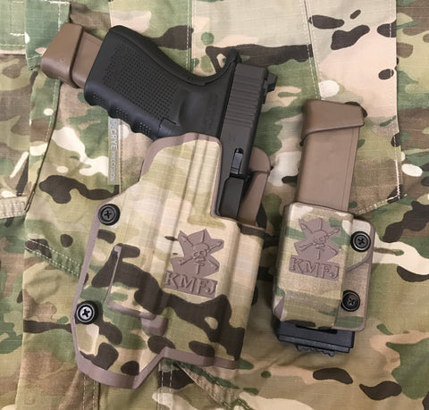 DA GUNSLINGER X300ULTRA HOLSTER & DA MAGAZINE HOLDER SERVICE GRADE (MC) Anti-IR Laminate