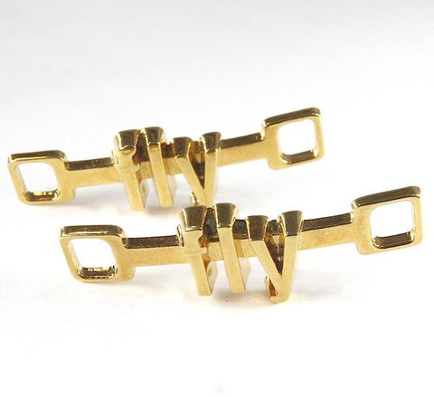 18K-Gold Plated U-Locks - fly/fly
