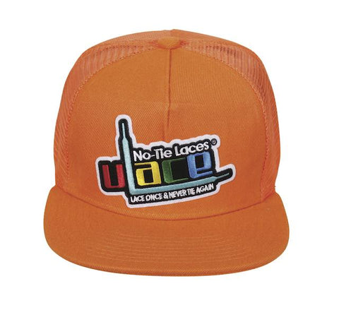 Woven Patch Logo Snapback - Neon Orange