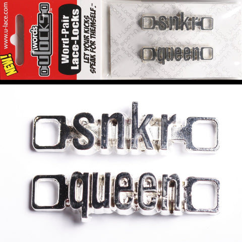 "Sneaker lace U-Locks Words ""Snkr Queen"""