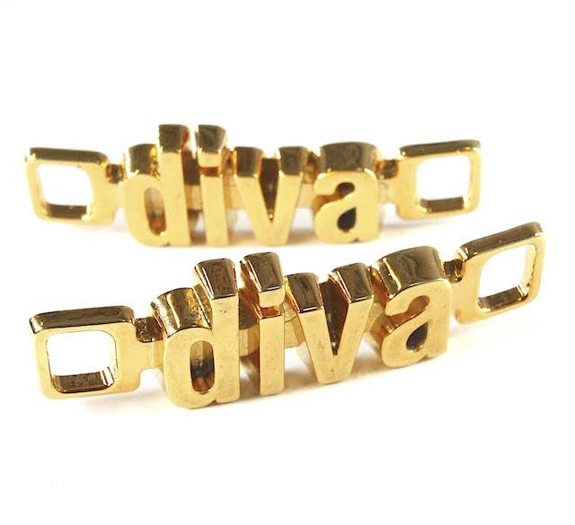 18K-Gold Plated U-Locks - diva/diva