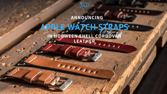 Apple Watch straps in Horween shell cordovan leather now available