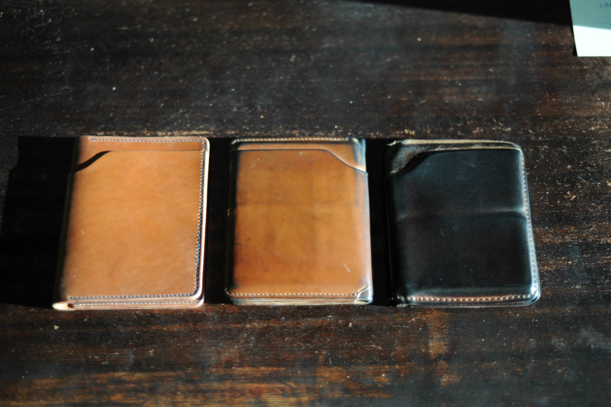 6504371fc40 Horween Chromexcel can also be made in natural. The most popular Chromexcel  wallet is the Johnny the Fox in natural Chromexcel with a moc (light tan)  ...