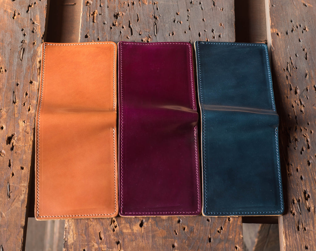 New Horween Shell Cordovan Colors Amaretto Ultraviolet Denim