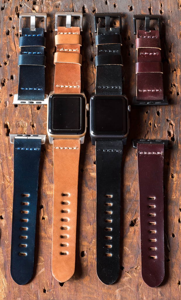 Leather bands for Apple Watch in Horween shell cordovan