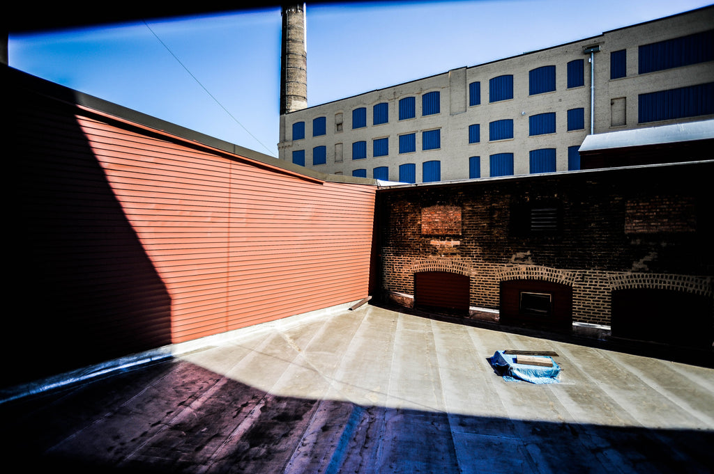 Horween Leather Tannery looking east at storage building