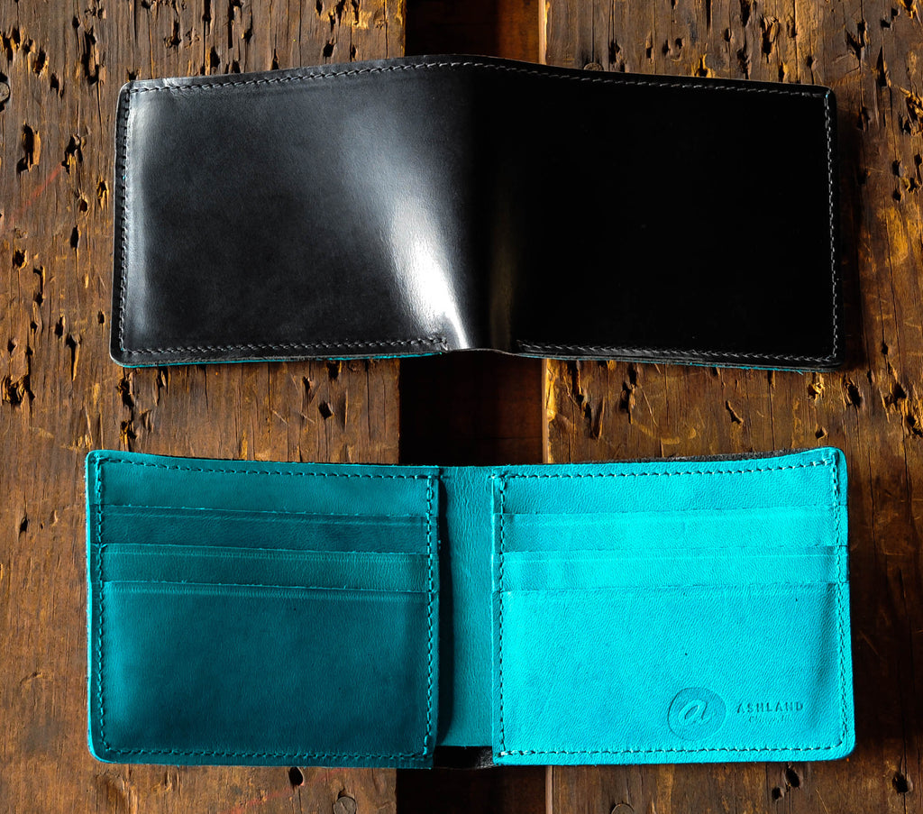Ashland Leather Johnny the Fox with teal interior Chromexcel CXL