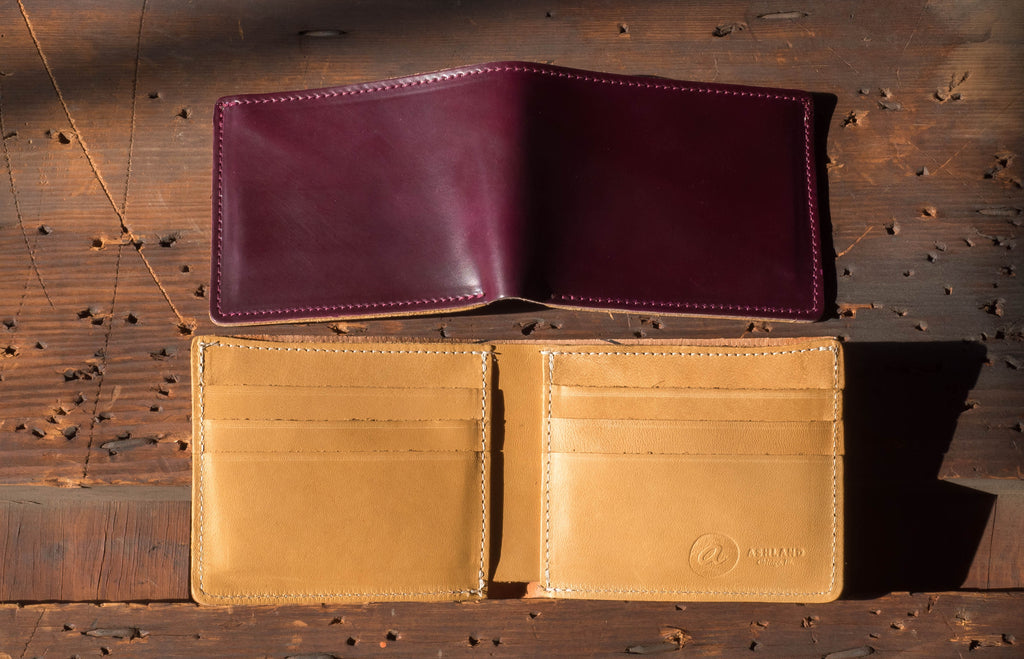 New Horween Shell Cordovan Color Ultraviolet Ashland Leather Johnny the Fox