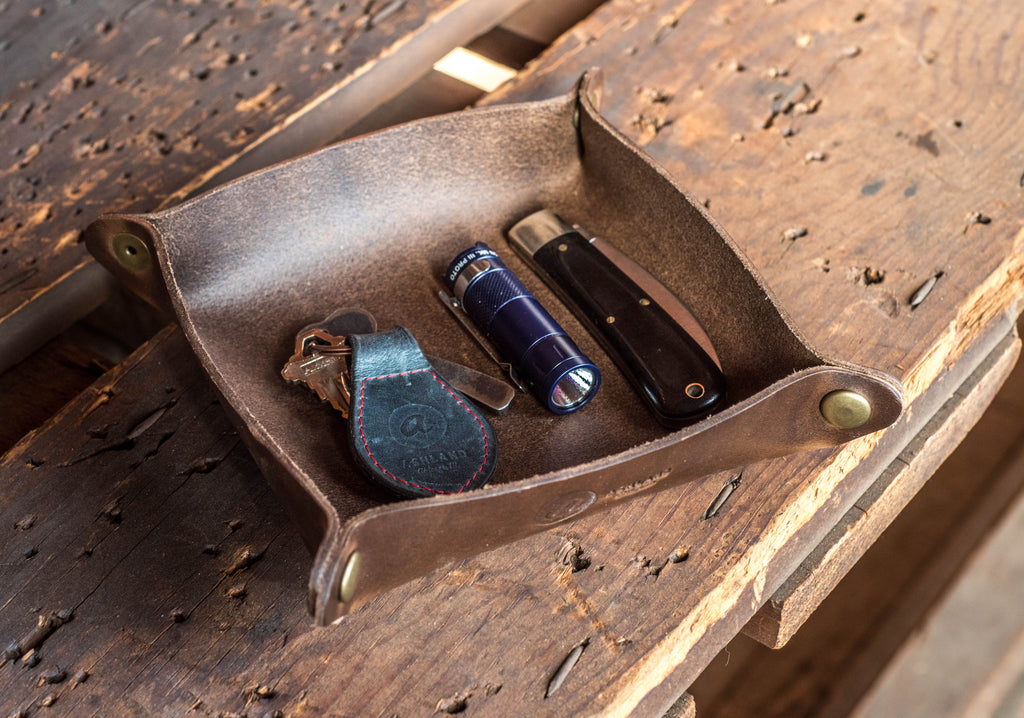Horween Leather valet Tray for Everyday Carry