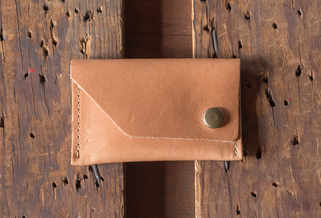 Ashland Leather Card Case Wallet Machine Gun Jack Horween Natural Essex
