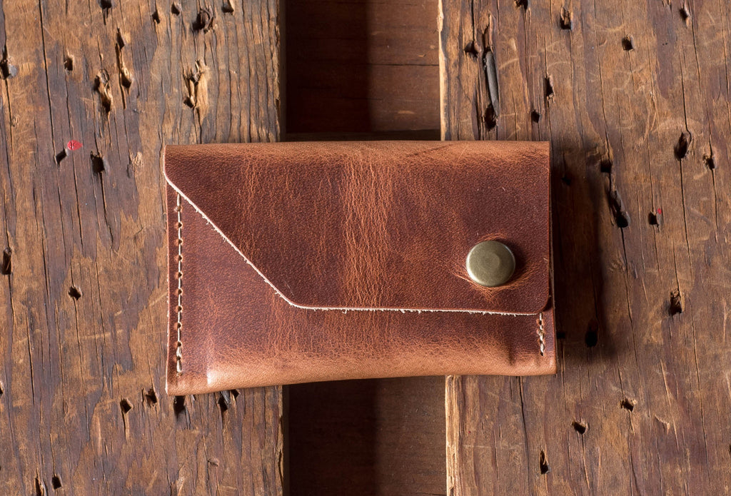 Ashland Leather Card Case Wallet Machine Gun Jack Horween English Tan Dublin