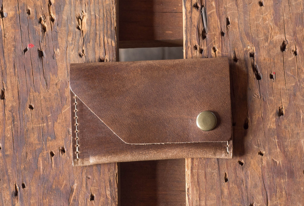 Ashland Leather Card Case Wallet Machine Gun Jack Horween Natural CXL Chromexcel