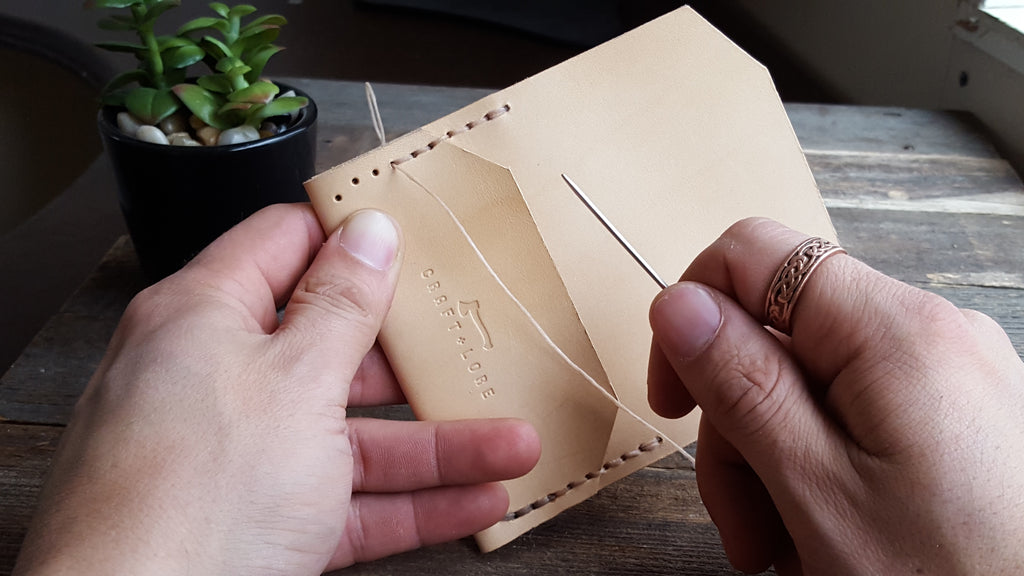 Craft and Lore hand stitch veg tan leather wallet