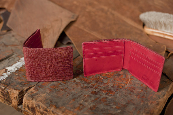 Johnny the Fox - Football Leather Wallet - Ashland Leather Horween Leather Wallet