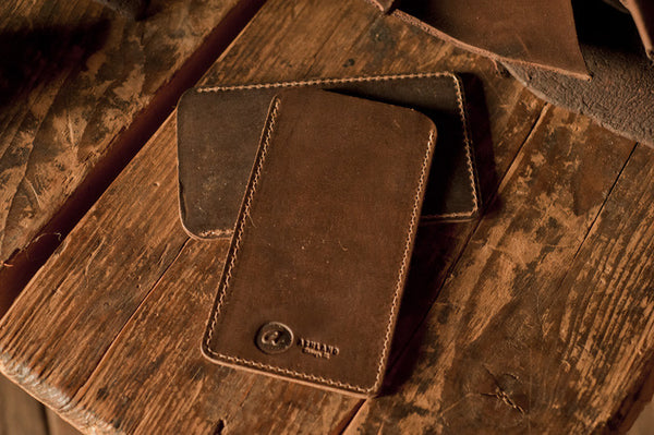 Chromexcel & Veg-Tan iPhone Sleeve - Ashland Leather Horween Leather Wallet