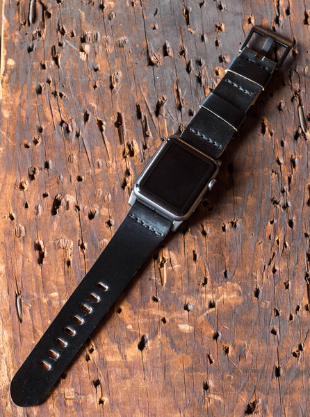 Horween Shell Cordovan Apple Watch Straps