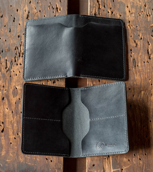 Black Horween Chromexcel leather wallet