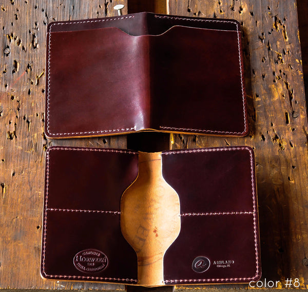Fat Herbie - Shell Cordovan Bifold Wallet - Ashland Leather Horween Leather Wallet
