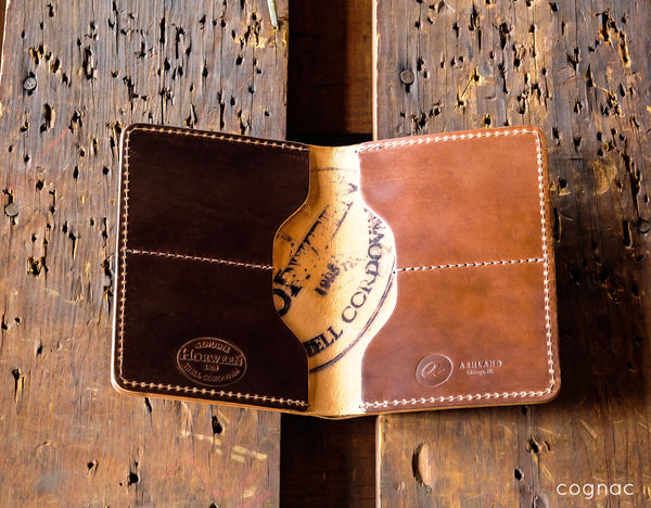 Fat Herbie - LIMITED Shell Cordovan Bifold Wallet - Ashland Leather Horween Leather Wallet