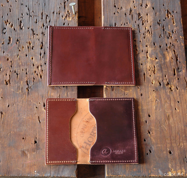 "Louis ""Little New York"" - Shell Cordovan Front Pocket Wallet - Ashland Leather Horween Leather Wallet"