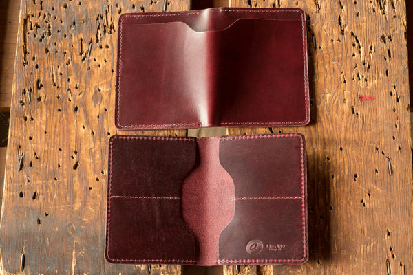 Horween color #8 CXL leather wallet