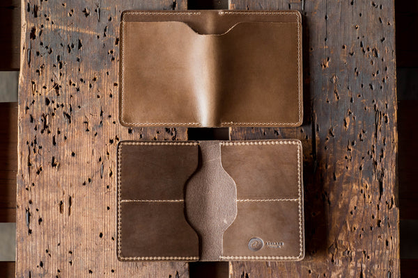Horween natural cxl leather wallet