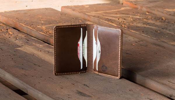 Horween Leather card holder - Brown CXL