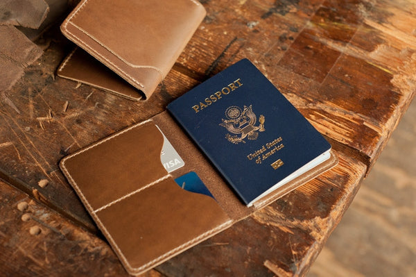 Chromexcel leather passport holder