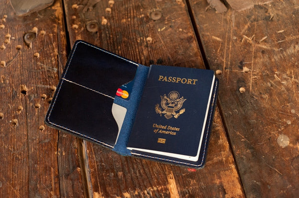 World Traveller - Chromexcel Passport Holder - Ashland Leather Horween Leather Wallet