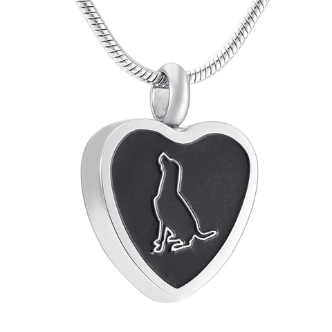 Dog Cremation Necklace Urn for Ashes - Pet Memorial Jewelry Pendant - Funnel Fill Kit Included