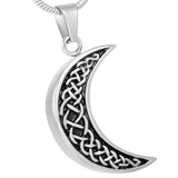 Celtic Moon Urn Necklace for Ashes - Cremation Memorial Keepsake Pendant - Johnston's Cremation Jewelry - 1