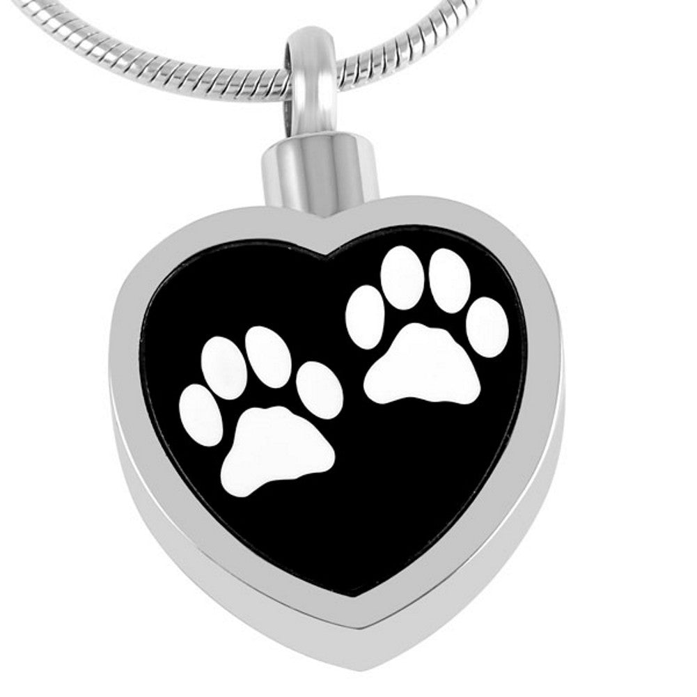 Pet Urn Necklace for Ashes - Cremation Jewelry Dog Cat Keepsake Pendant - Funnel Fill Kit Included - Johnston's Cremation Jewelry - 4