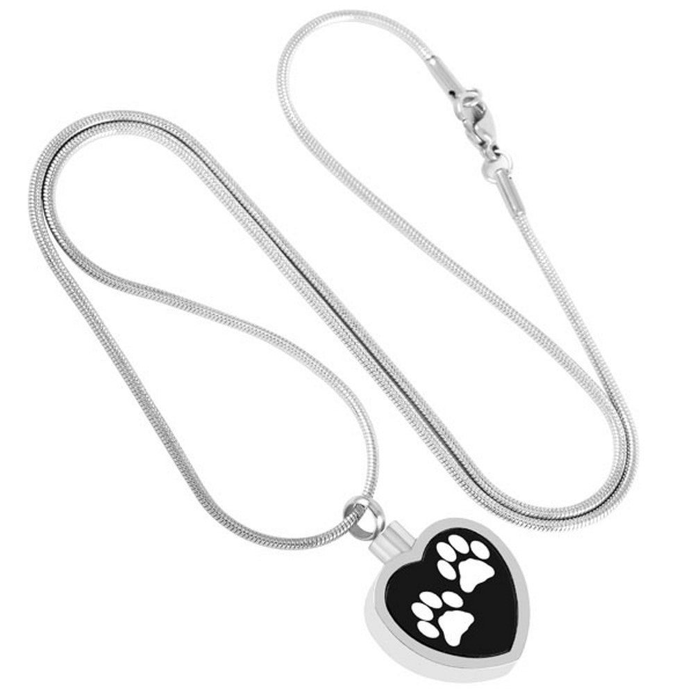 Pet Urn Necklace for Ashes - Cremation Jewelry Dog Cat Keepsake Pendant - Funnel Fill Kit Included - Johnston's Cremation Jewelry - 3