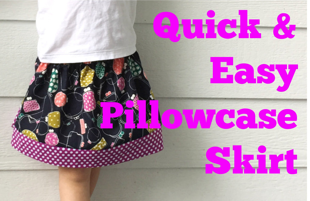 Quick and Easy Pillowcase Skirt