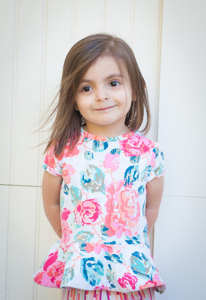 Princess Peplum Royal Raglan PRINT