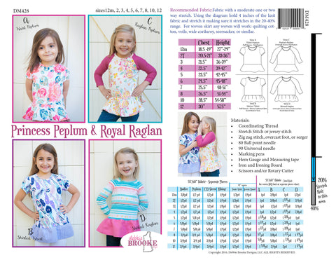 Princess Peplum Royal Raglan DIGITAL