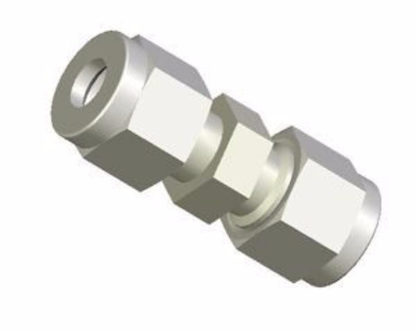 "Connector, 1/4"" Swagelok union, nylon"