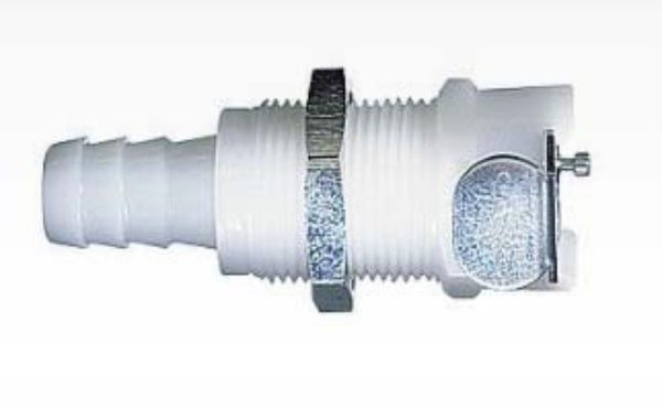 "Quick-Disconnect Compression Insert; Valved, 1/4"" Tube OD, 1/4"" Flow Size"
