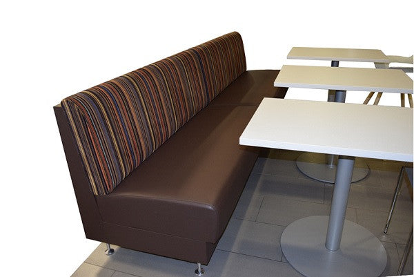 White Break Room Tables with Circle Base