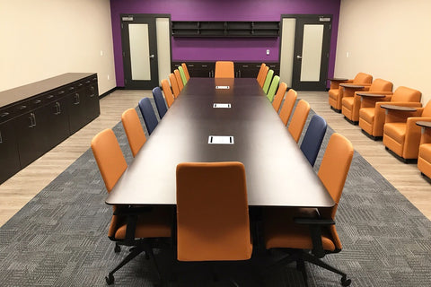 Enwork Conference + Logiflex Private offices + Knoll Morrison/Currents Cubicles