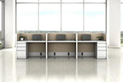 "WORKSTATION TYPICAL 3: AIS - DIVI 5'x2'; 42""H  Workstation"