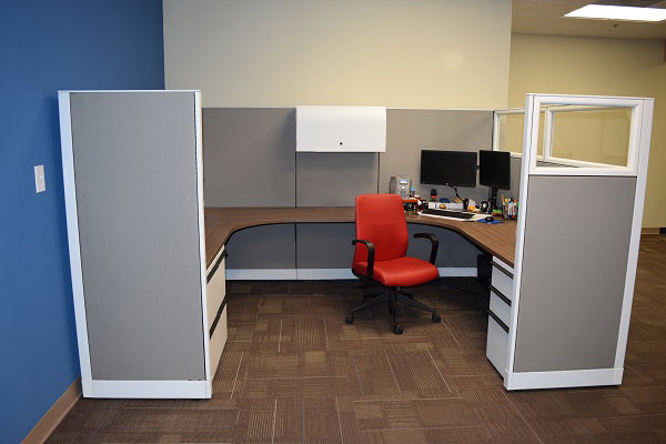"Knoll Morrison Cubicle Re manufactured 9.5'x6'x64""H with Glass"