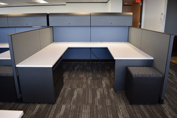 "Knoll Morrison Cubicle Re manufactured 8'x8'x64""-48"" High-low"